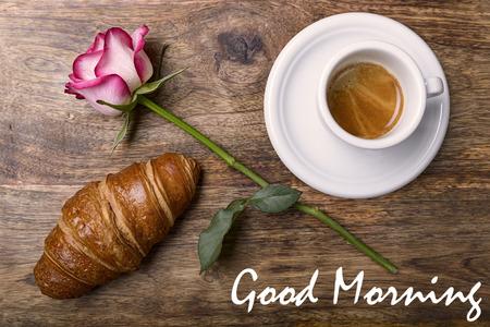 Romantisch kaffee guten morgen Der guten