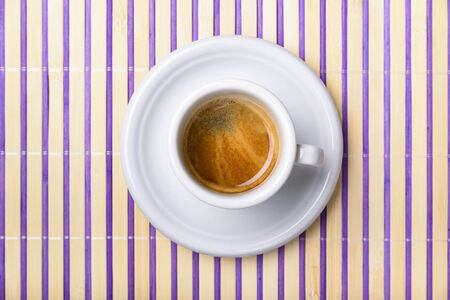 placemat: cup of coffee isolated on colored wooden placemat