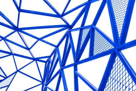tiefe: blau Metallleitung Perspektive Isolat