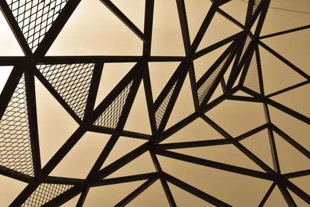 metal line perspective sepia theme Reklamní fotografie