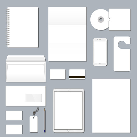 Mock-up business template. Abstract corporate stationery template, identity design.