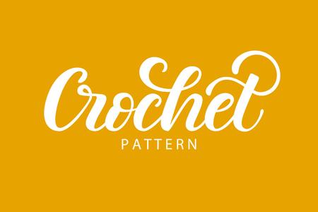 Crochet hand lettering
