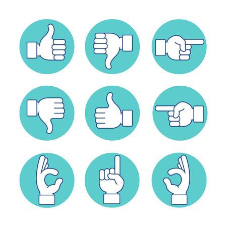 hands icon set Illusztráció