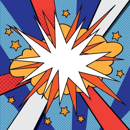 Pop art background Stock Illustratie