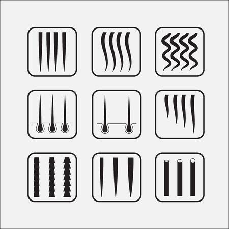 Hair texture chart.