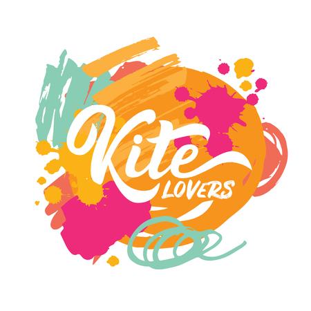 Kite lovers lettering