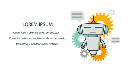 Bot pictogram banner. Vector Illustratie