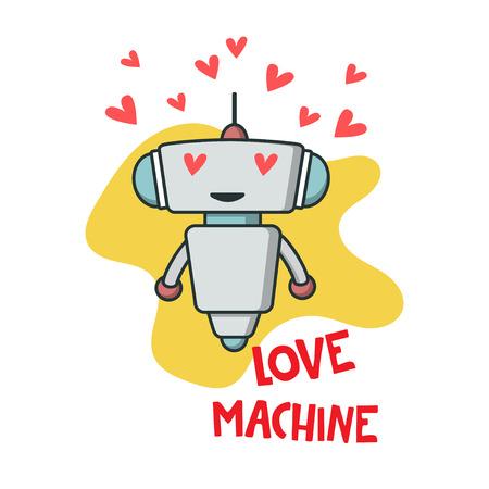 Simpatico robot innamorato