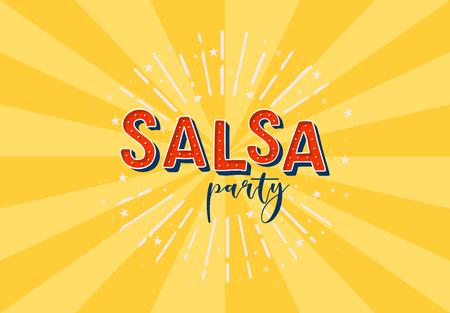 Salsa party vector logotype