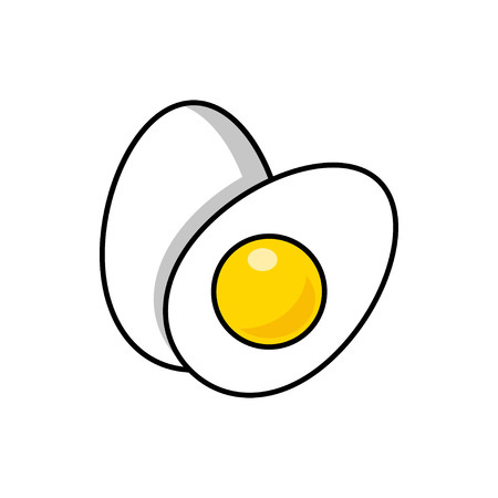 Eggs flat vector illustration isolated on white background for icon, logotype, mobile app and web design. Stock Vector - 110745193