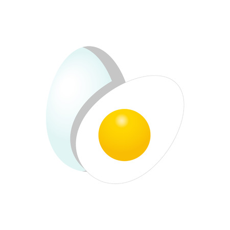 Eggs flat vector illustration isolated on white background for icon, logotype, mobile app and web design.