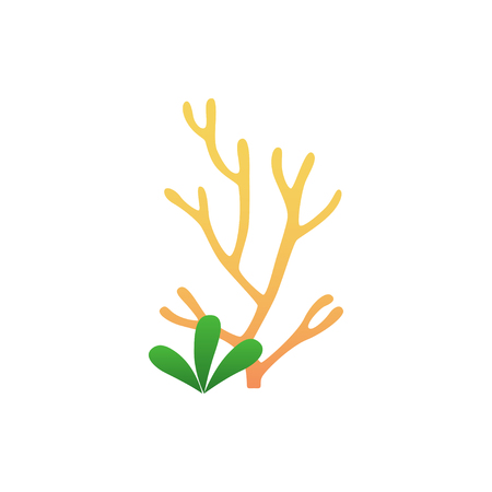underwater seaweed in flat style Illustration