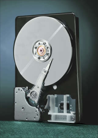 hard drive: A open view of a hard drive Stock Photo