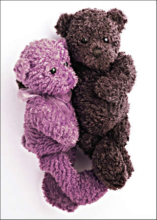 Stuff toy baby bears hugging