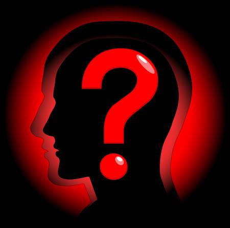 faq icon: La imagen abstracta que simboliza una pregunta. Vector. Vectores