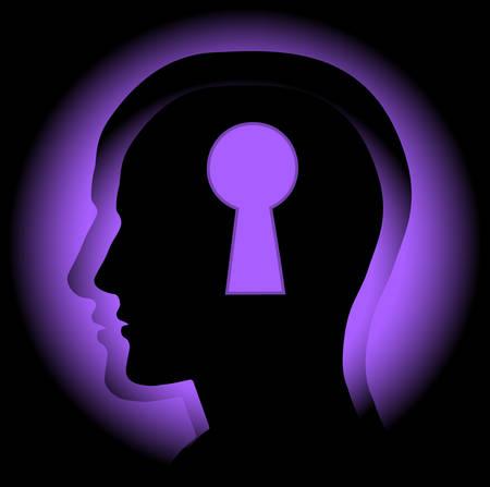 intellect: L'immagine astratta che simboleggia un indovinello mente. Vector. Vettoriali