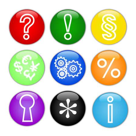 Miscellaneous vector web icons. Button icons. Stock Vector - 4970556