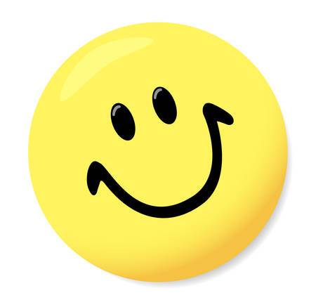 Magnet for boards in a kind smiley. Vector.