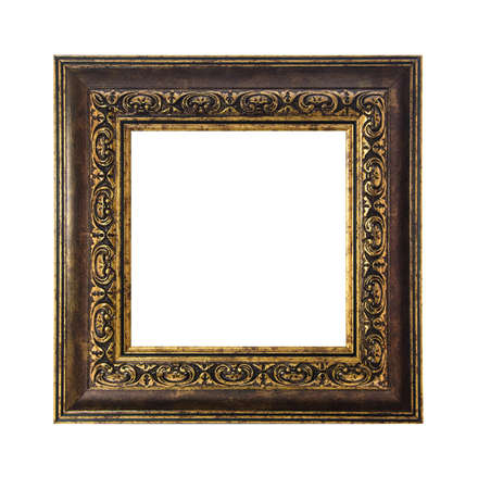 vintage frame isolated on white background photo