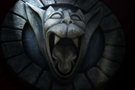 gargoyle: photo of gargoyle with open mouth