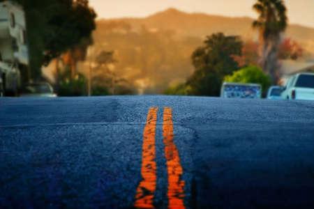 Horizontal landscape of a road photo
