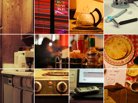 grungey: Collage of retro style photos illustrating real life from a single guys point of view.
