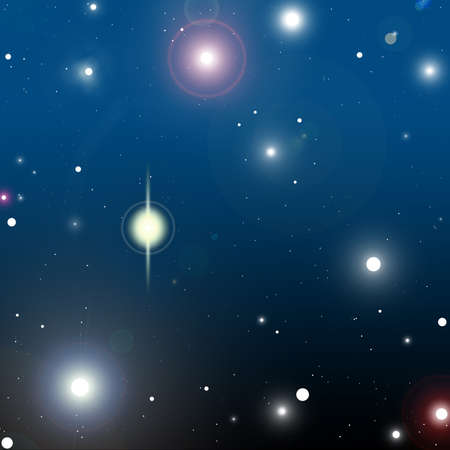 Cosmos background with glowing stars