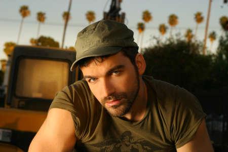 good looking man: Young casual good looking man outdoors