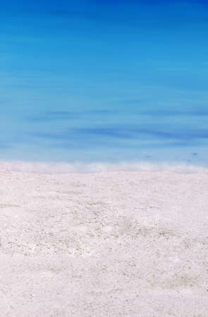 Abstract composition of pristine white sand and beautiful bright blue ocean Stock Photo - 7710639