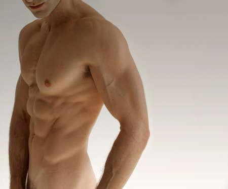 nudo maschile: Nudo modello maschile sexy sfondo neautral