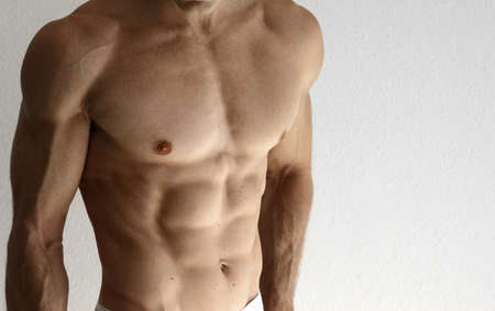Detail of a sexy muscular shirtless man Stock Photo - 8458562