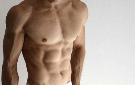 sexy muscular man: Detail of a sexy muscular shirtless man