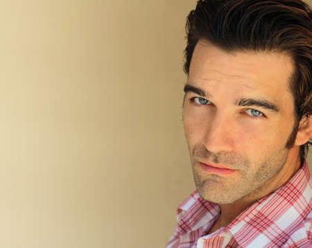 trendy male: Closeup portrait of a good looking man