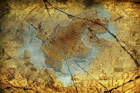 Abstract grunge map background photo