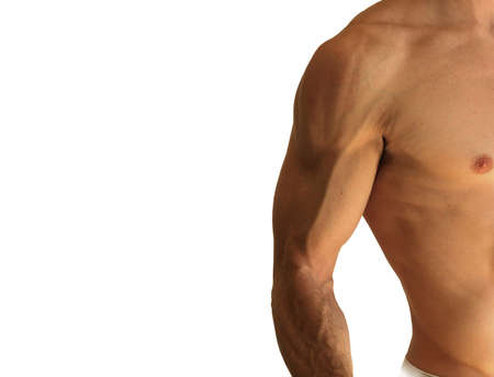 Detail of a sexy muscular shirtless man Stock Photo - 8852179