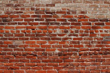 오래 된 풍 화 벽돌 벽의 배경