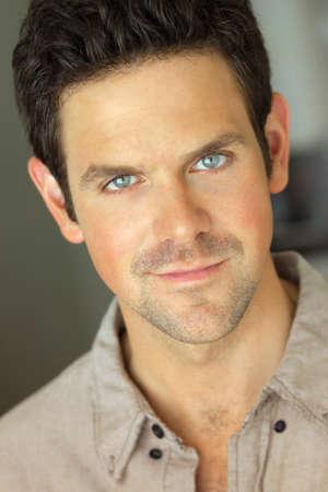 attracive: Closeup portrait of a young pleasant attracive man