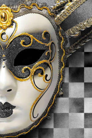 mardi gras: Bella maschera di carnevale ornato