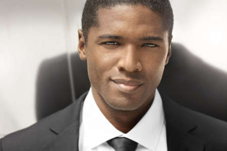 american content: Close portrait of a nice young businessman
