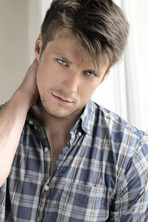 Portrait of a young attractive casual man photo