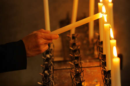 burning a candle