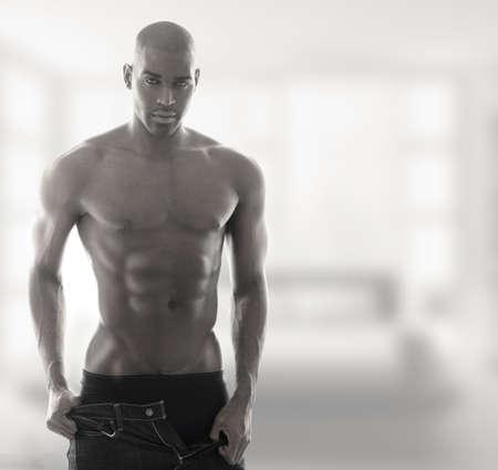 Sexy muscular male model in underwear  Stock Photo