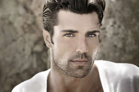 Handsome man portrait photo
