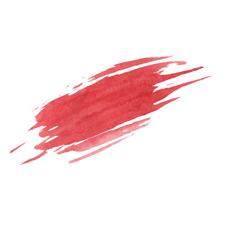 Red vector smudge texture isolated on the white background. Grunge design.