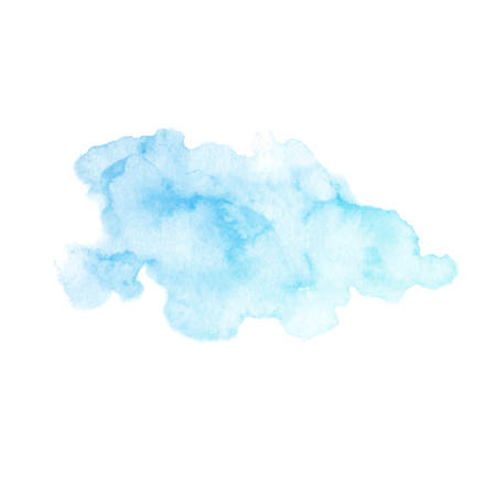 Hand painted blue vector texture isolated on the white background. Usable for cards, invitations and more. Vector Illustration