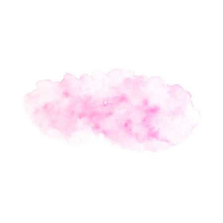 Hand painted pink vector soft texture isolated on the white background. Usable as a template for cards, invitations and more. 矢量图像