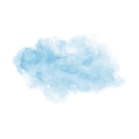 Hand painted blue vector soft texture isolated on the white background. Usable for cards, invitations and more. 矢量图像