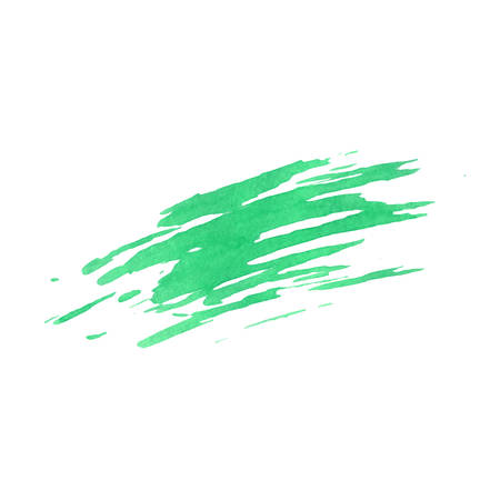 Green vector smudge texture isolated on the white background. Grunge design.