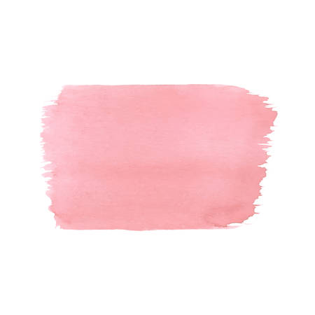 Hand painted pink vector watercolor texture isolated on the white background. Usable for cards, wedding invitations and more.