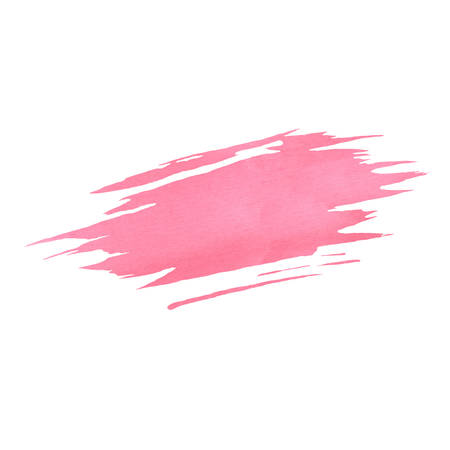 Hand painted pink vector watercolor brush texture isolated on the white background. Usable for cards, wedding invitations and more. 矢量图像